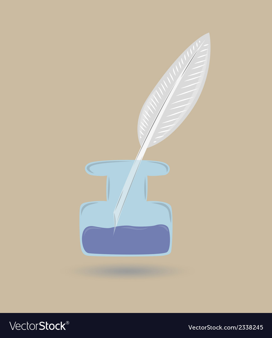 Quill and inkwell vector | Price: 1 Credit (USD $1)