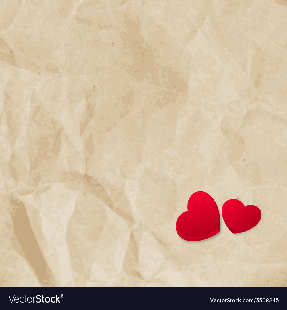 Red hearts on vintage paper eps 10 vector | Price: 1 Credit (USD $1)