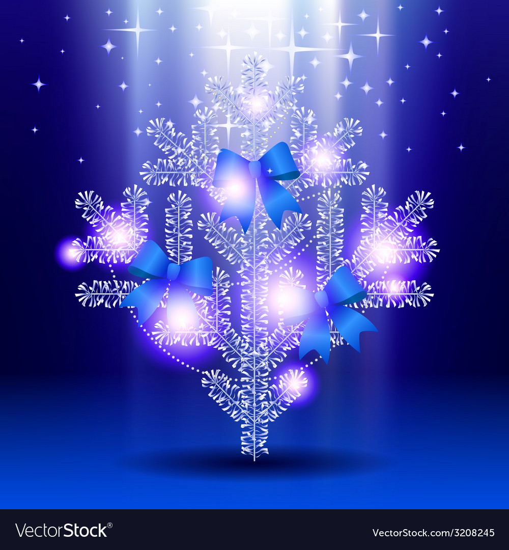 Silver christmas tree vector | Price: 1 Credit (USD $1)