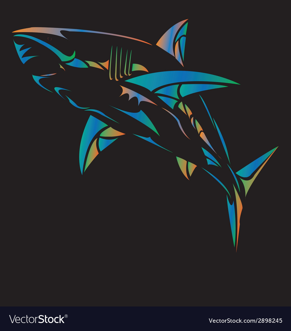 Strong shark sports mascot vector | Price: 1 Credit (USD $1)