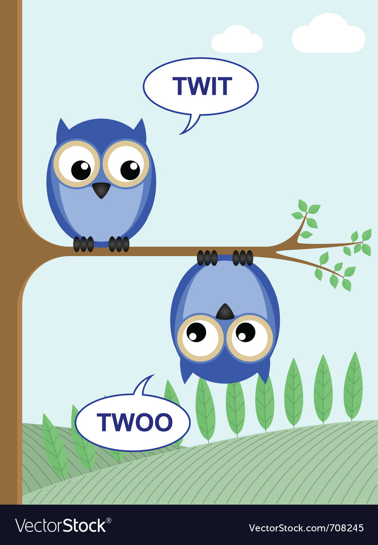 Twit twoo vector | Price: 1 Credit (USD $1)