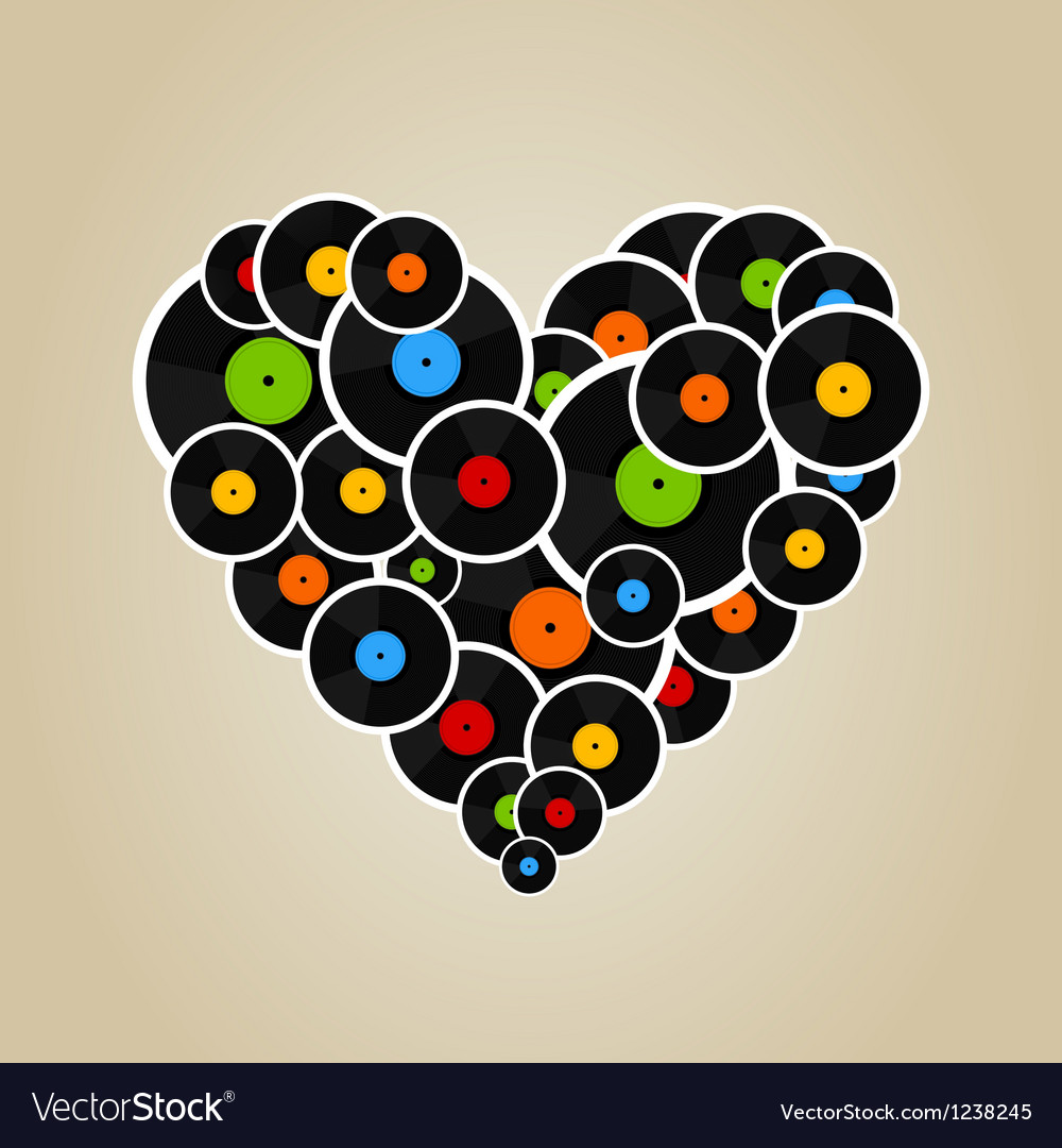 Vinyl heart vector | Price: 1 Credit (USD $1)