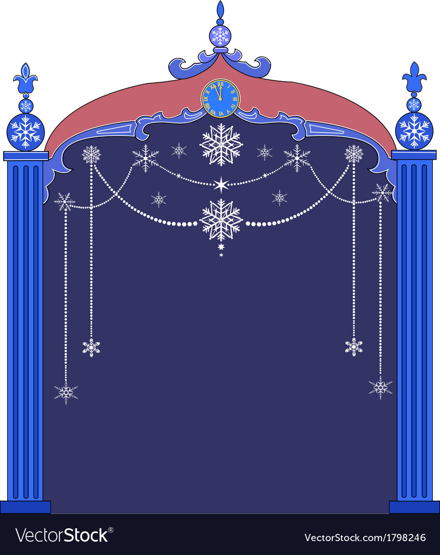 Christmas frame with snowflakes vector | Price: 1 Credit (USD $1)