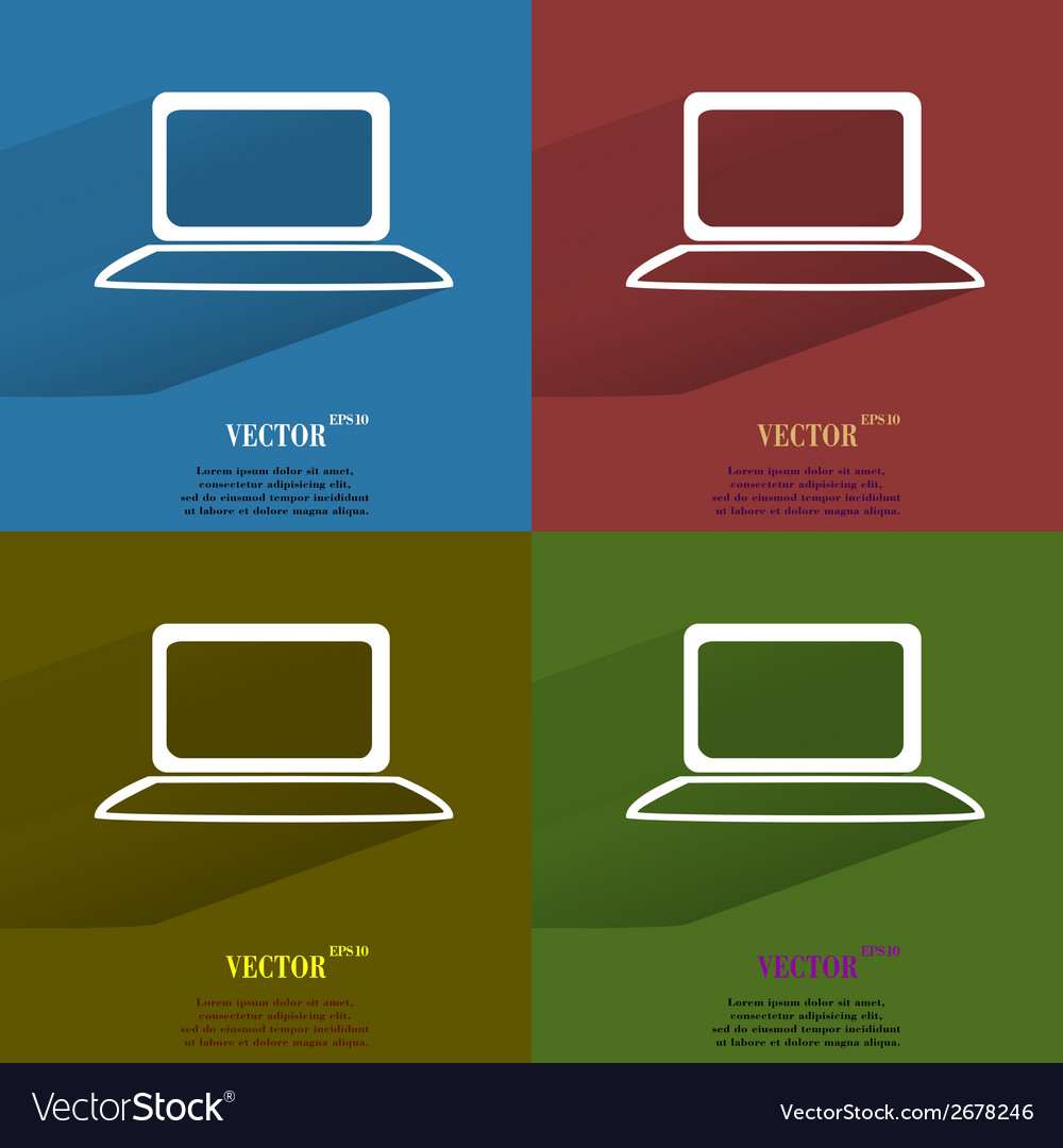 Color set notebook flat modern web button with vector   Price: 1 Credit (USD $1)