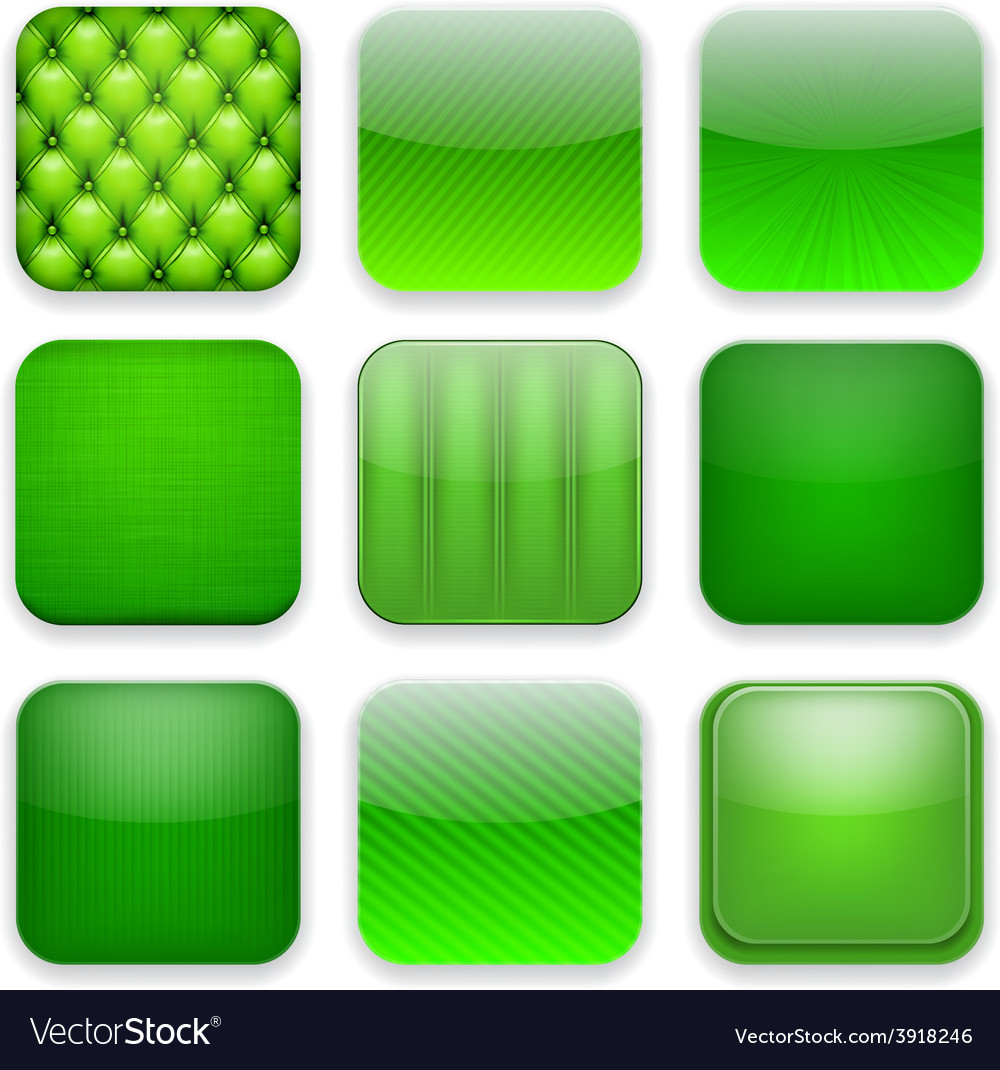 Green app icons vector   Price: 1 Credit (USD $1)