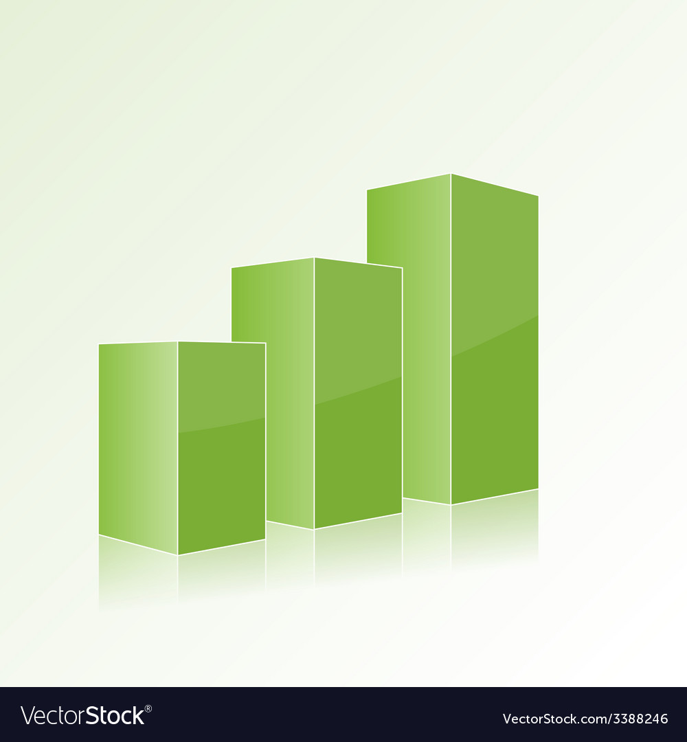 Green step by step chart with positive growth vector | Price: 1 Credit (USD $1)