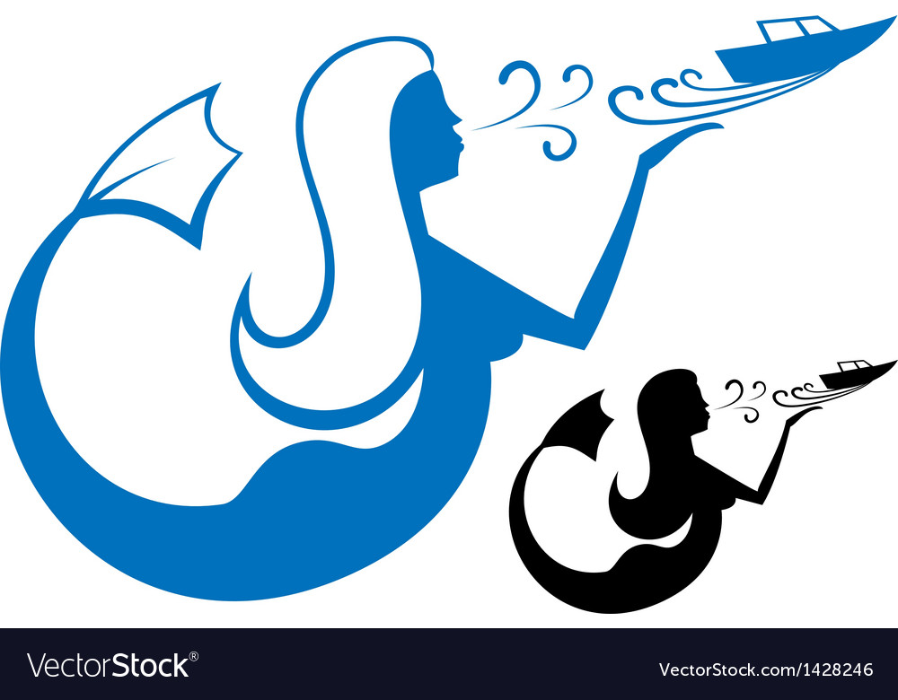 Logo mermaid vector | Price: 1 Credit (USD $1)