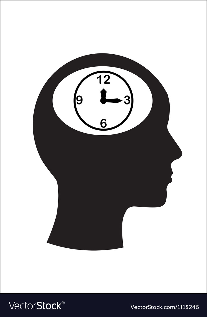 Man and thinking and time vector | Price: 1 Credit (USD $1)