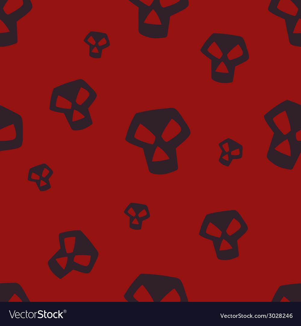 Red skull pattern small vector | Price: 1 Credit (USD $1)