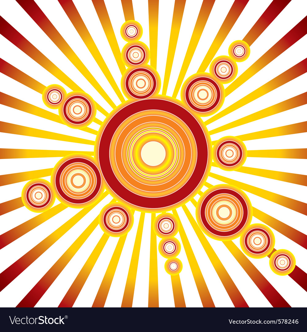 Retro sun background vector | Price: 1 Credit (USD $1)