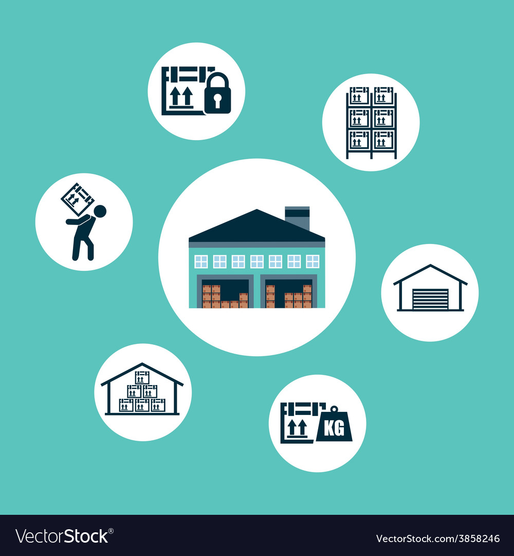 Warehouse vector | Price: 1 Credit (USD $1)