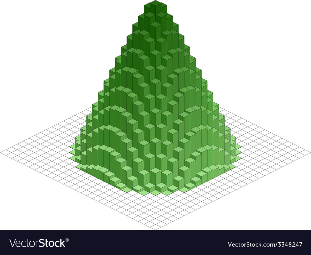 Abstract 3d christmas tree vector | Price: 1 Credit (USD $1)