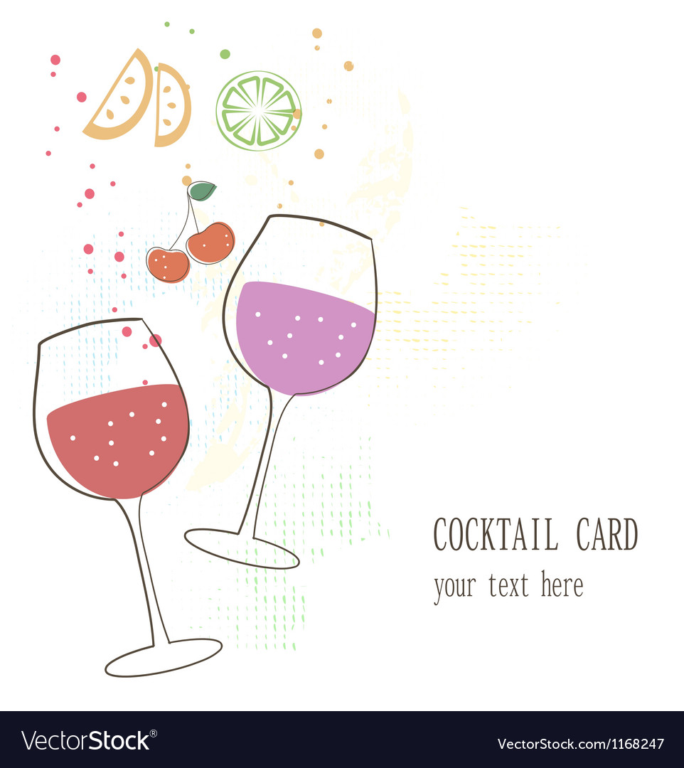 Cocktail card vector   Price: 1 Credit (USD $1)