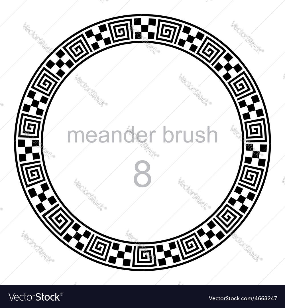 Frame round ornament meander pattern vector | Price: 1 Credit (USD $1)