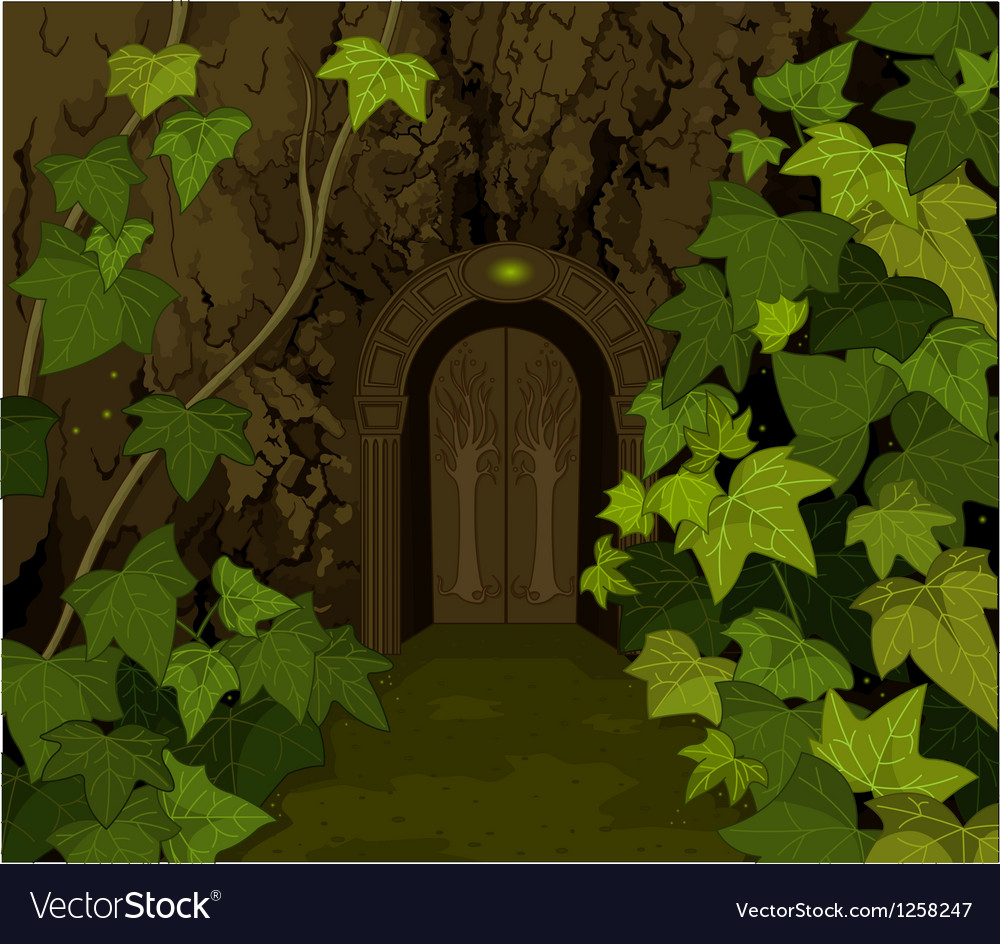 Gates of magic elves castle vector | Price: 1 Credit (USD $1)