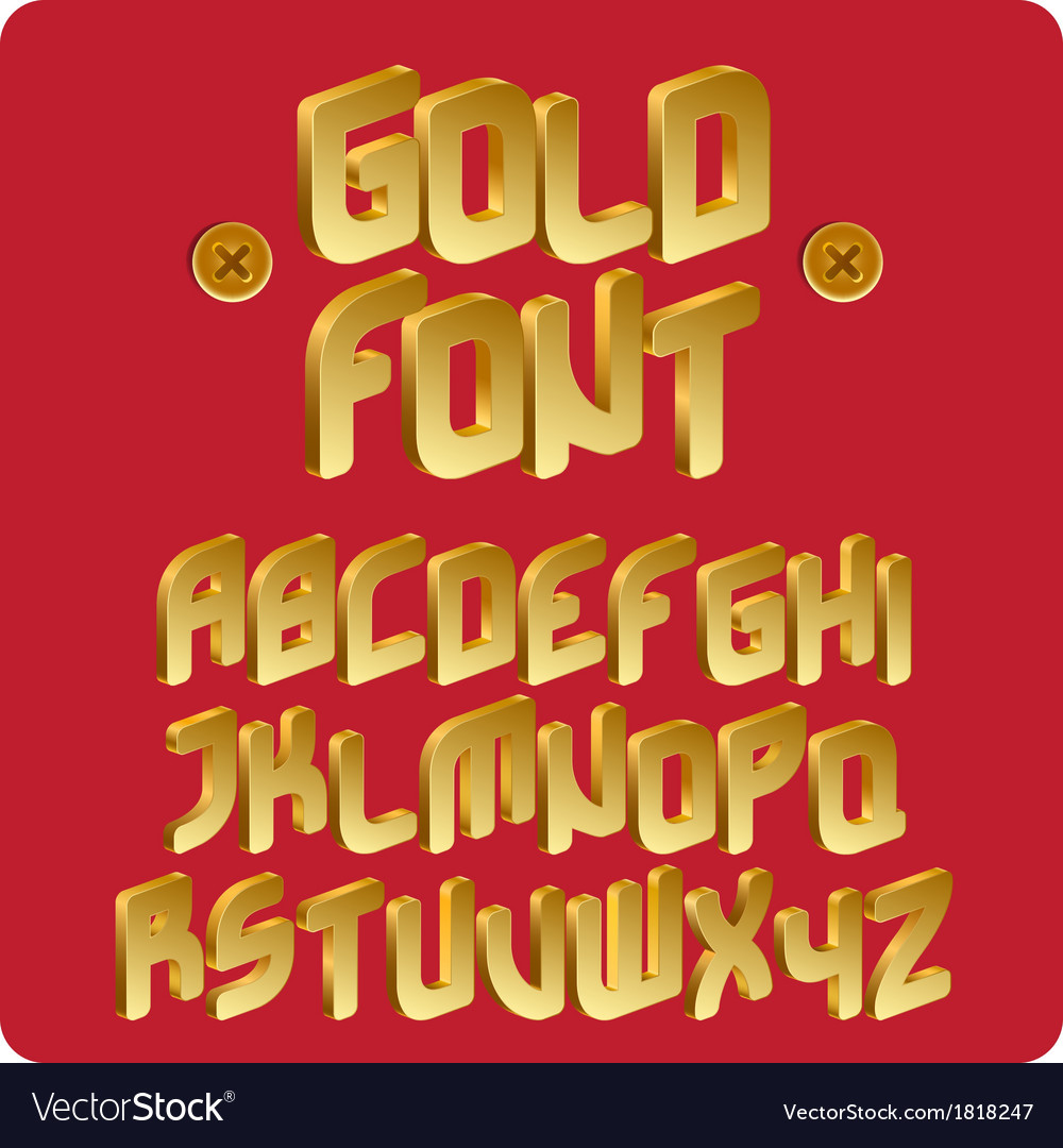 Gold font vector | Price: 1 Credit (USD $1)
