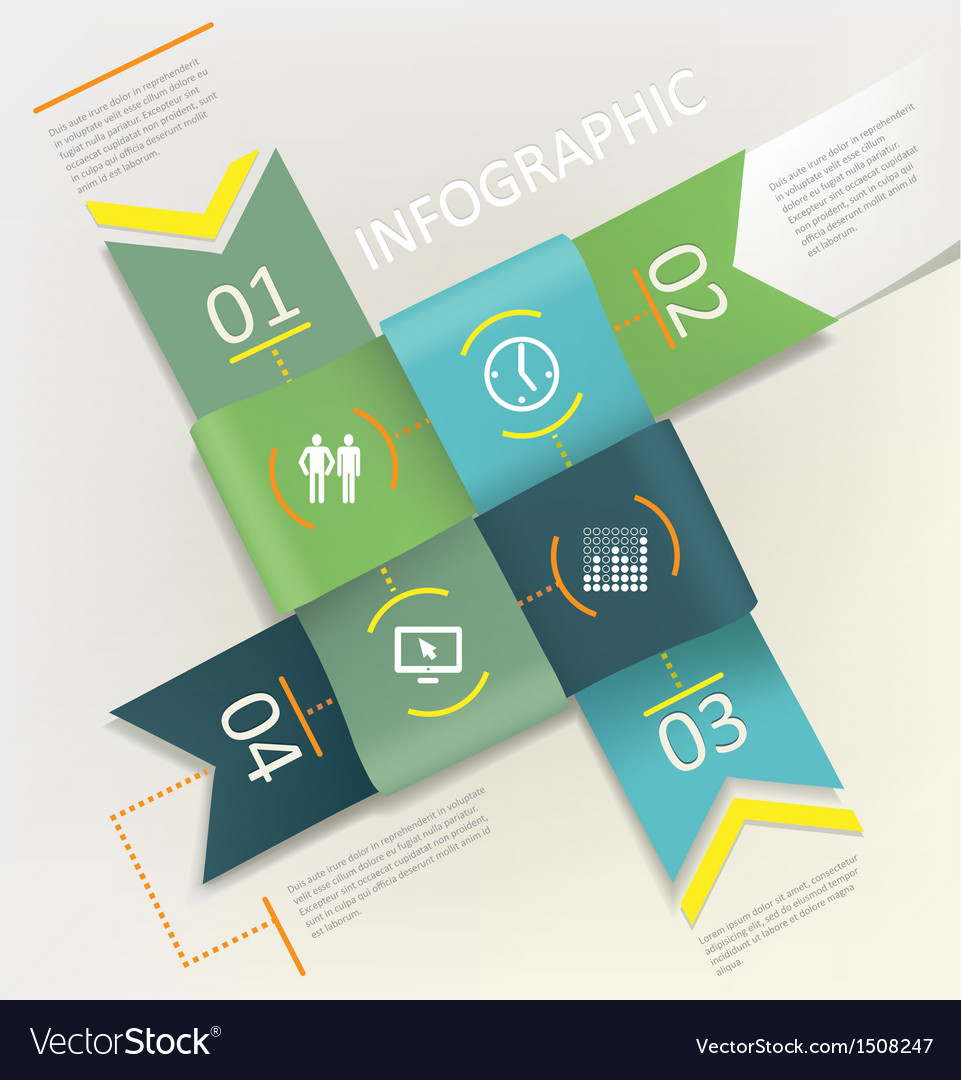 Infographic  four steps process vector