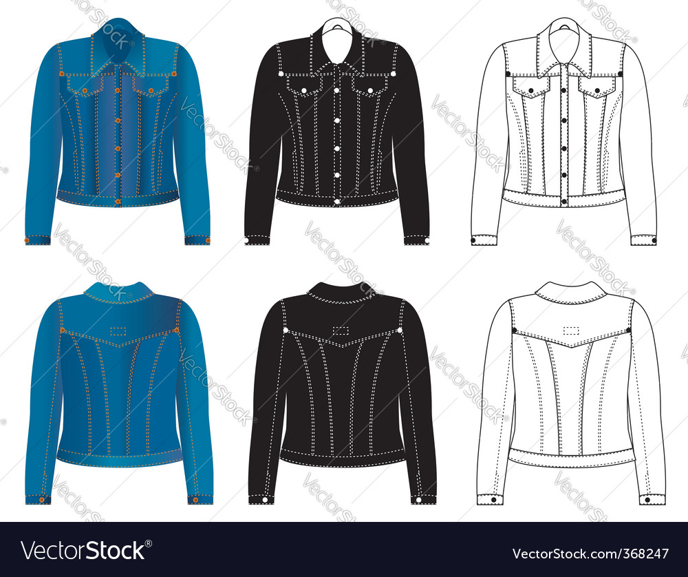 Jeans jacket vector | Price: 1 Credit (USD $1)