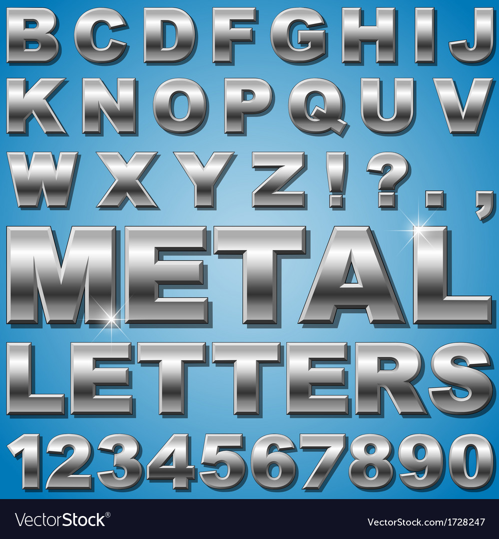 Metal letters vector | Price: 1 Credit (USD $1)