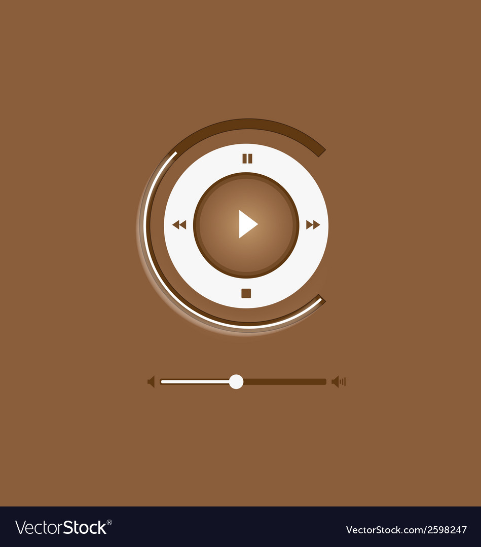 Music player control interface 6 vector | Price: 1 Credit (USD $1)