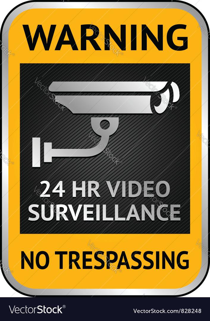 Cctv video surveillance label vector | Price: 1 Credit (USD $1)