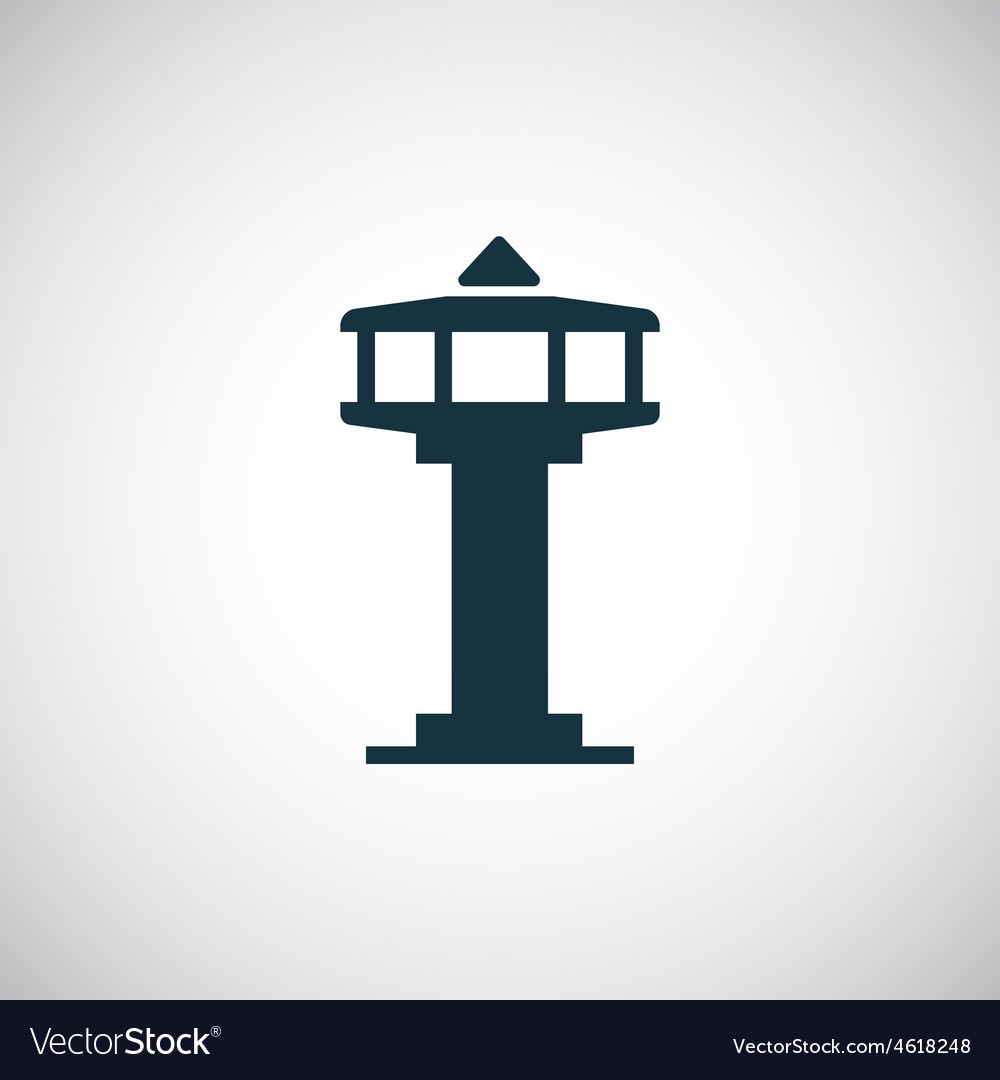 Control tower icon vector | Price: 1 Credit (USD $1)