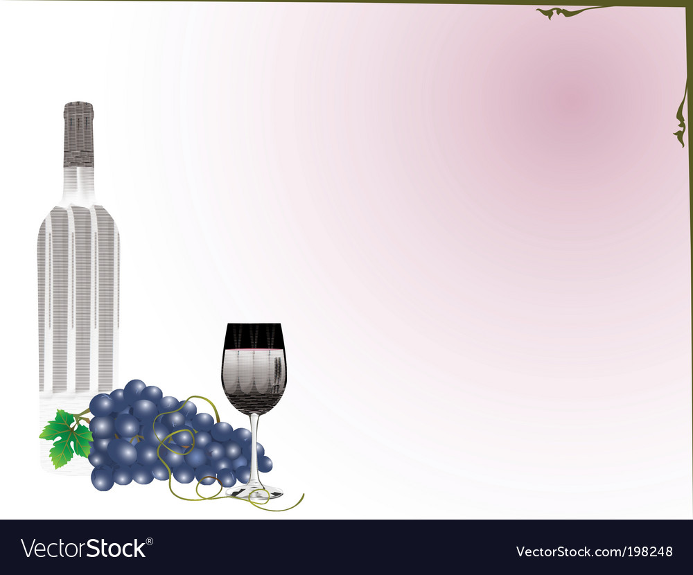 Grapes and wine vector | Price: 1 Credit (USD $1)