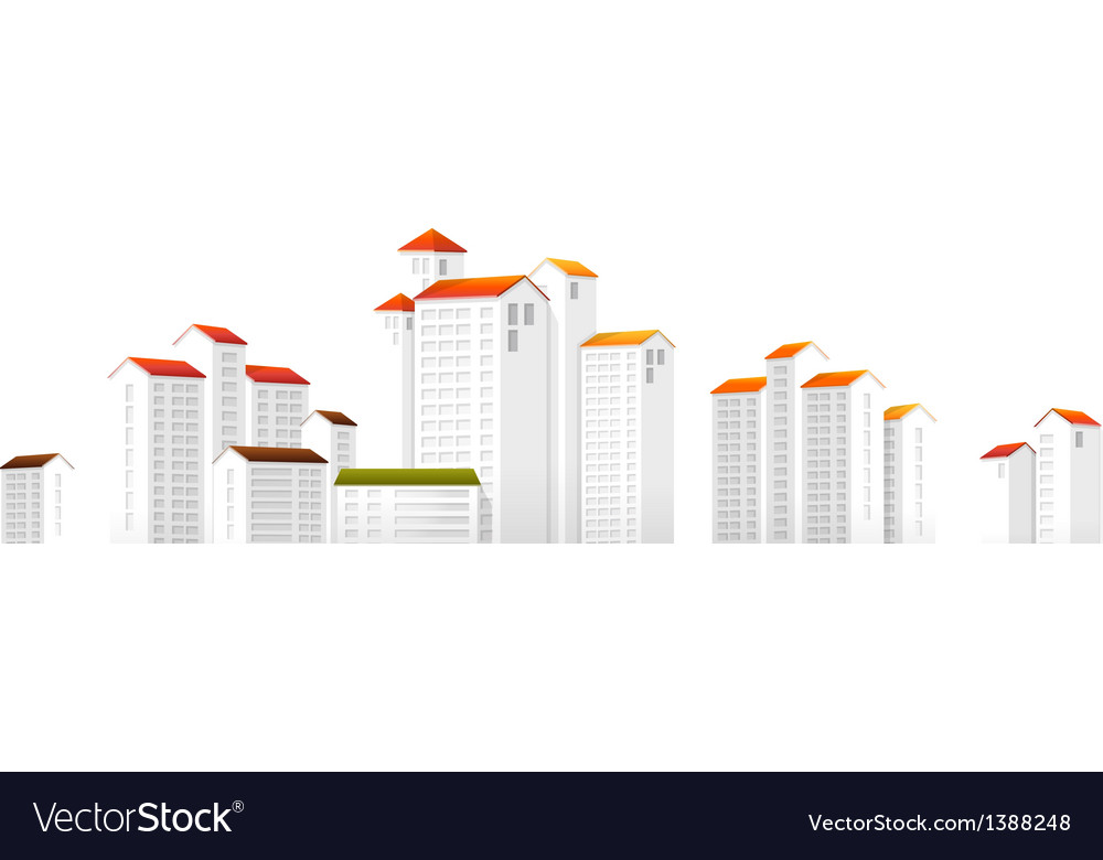 Icon apartment building vector | Price: 1 Credit (USD $1)