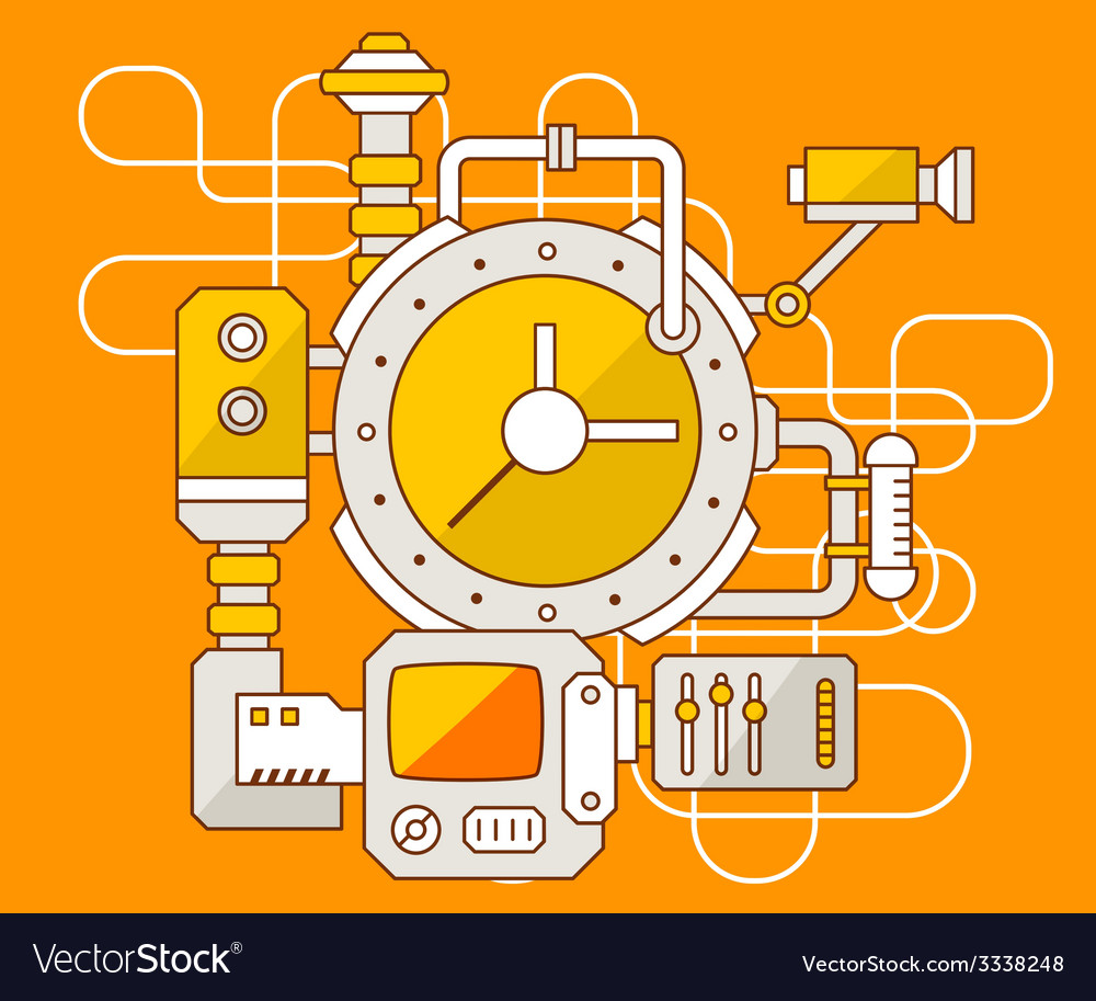 Industrial of the mechanism of clock vector | Price: 3 Credit (USD $3)