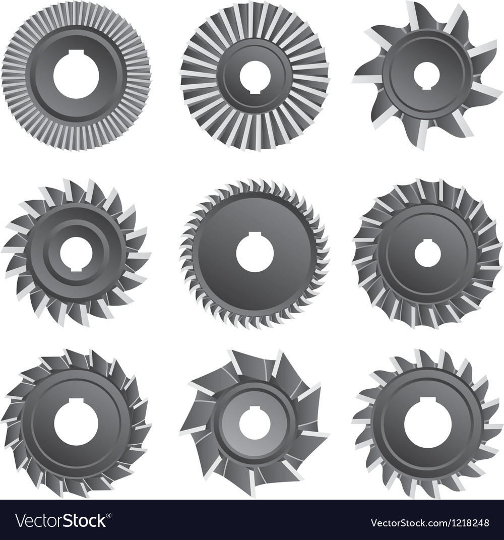 Milling cutters for metal vector | Price: 1 Credit (USD $1)