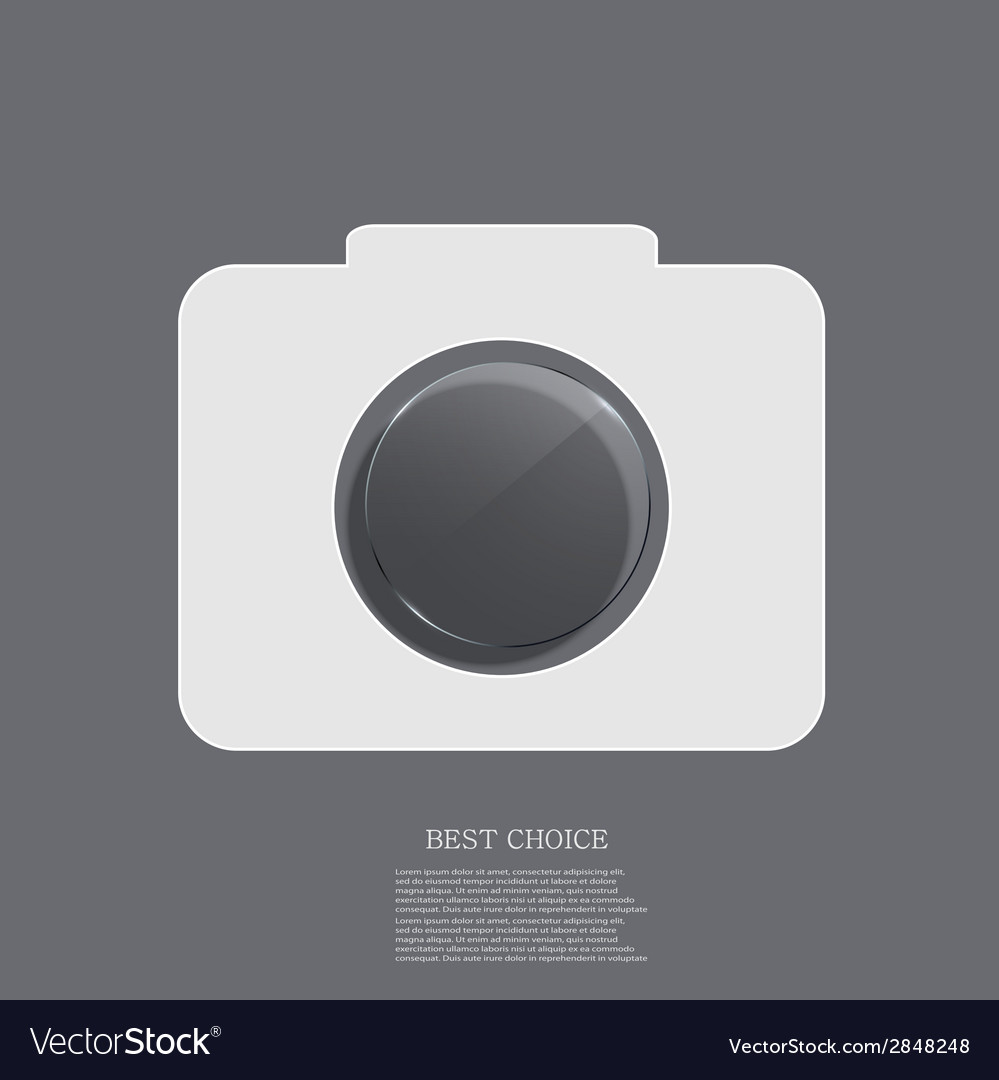 Modern camera icon with circle glass vector | Price: 1 Credit (USD $1)