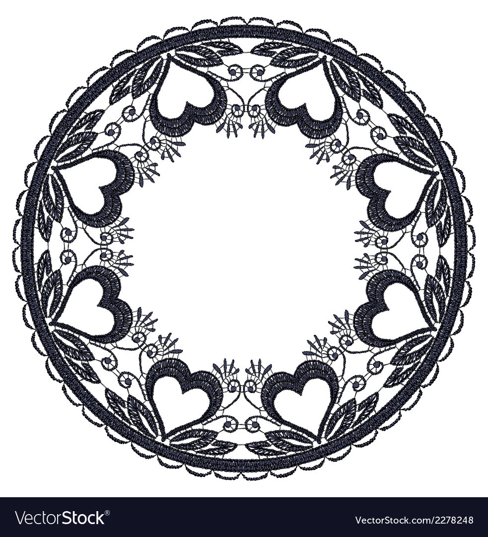 Round openwork lace border realistic vector | Price: 1 Credit (USD $1)