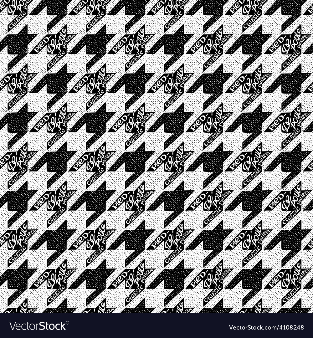 Seamless classic fabric houndstooth pied-de-poule vector   Price: 1 Credit (USD $1)