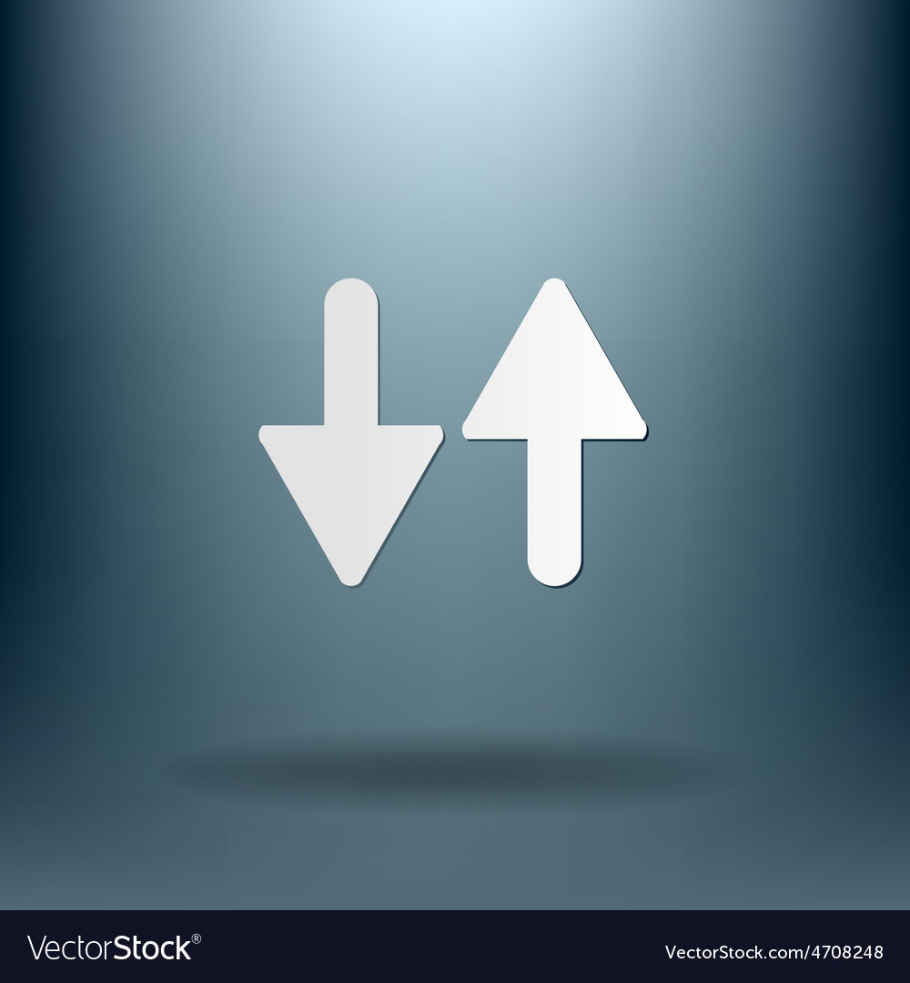 Two arrow up sign vector | Price: 1 Credit (USD $1)