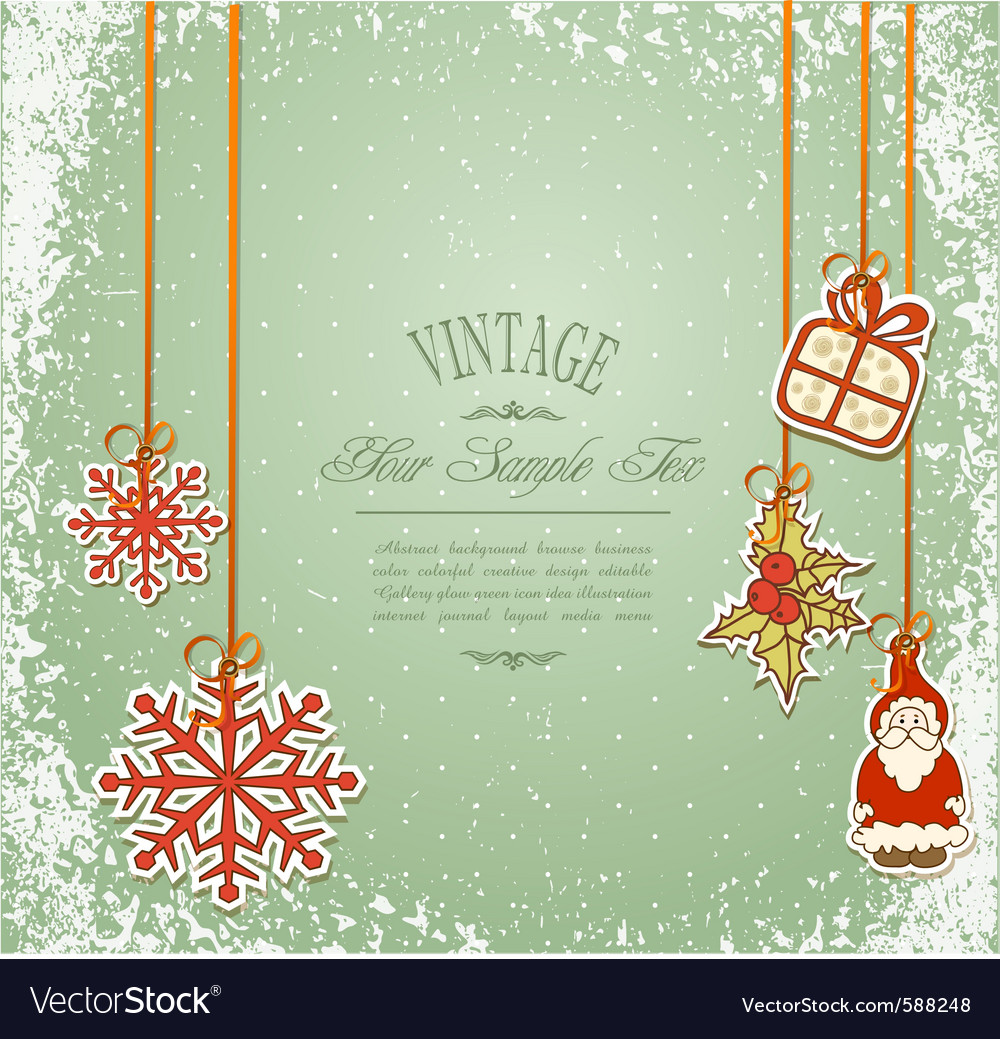 Vintage christmas vector | Price: 1 Credit (USD $1)