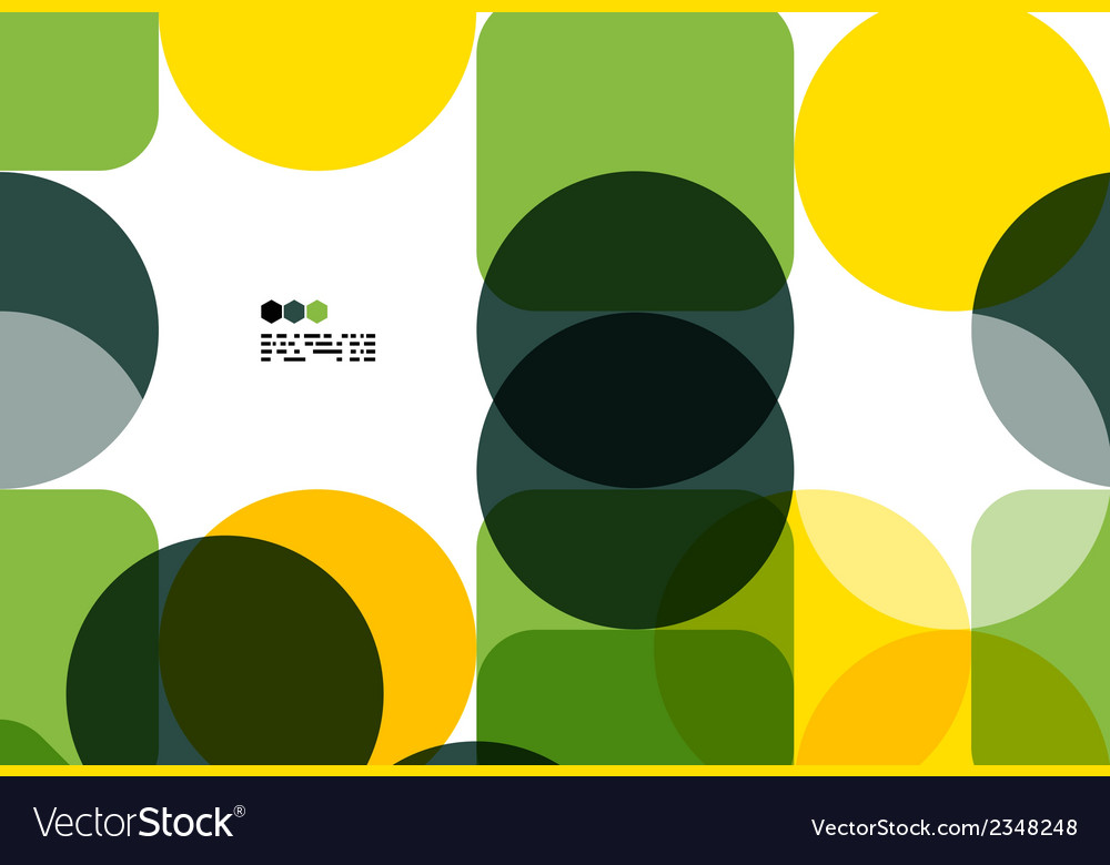 Warm modern color geometric abstract background vector | Price: 1 Credit (USD $1)