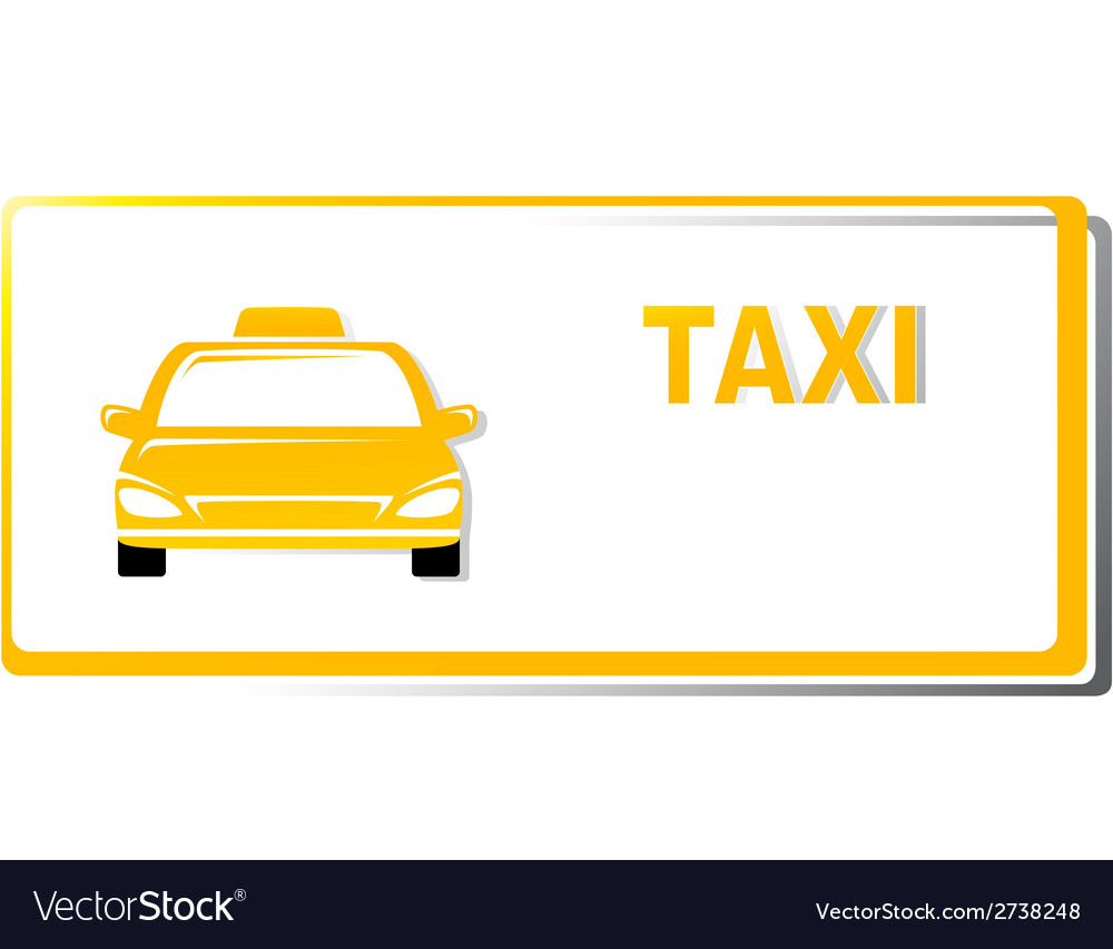 Yellow taxi business card vector | Price: 1 Credit (USD $1)
