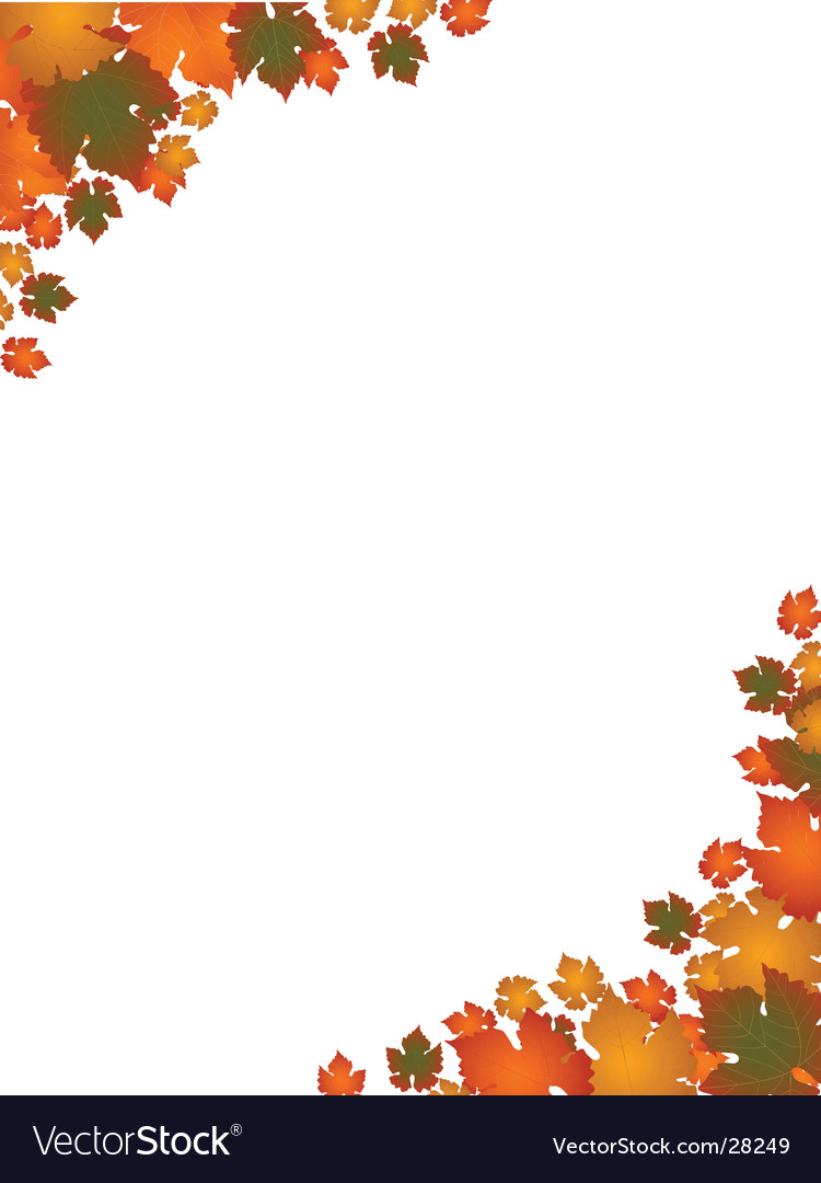 Autumn leaf border landscape vector | Price: 1 Credit (USD $1)