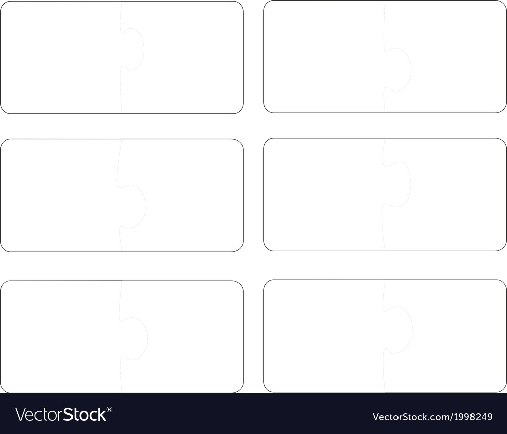 Blank template puzzle a vector | Price: 1 Credit (USD $1)