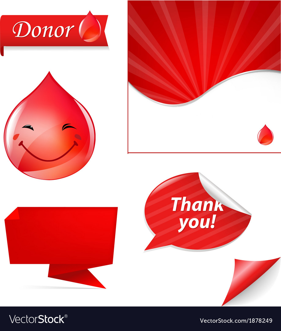 Blood drop set vector | Price: 1 Credit (USD $1)