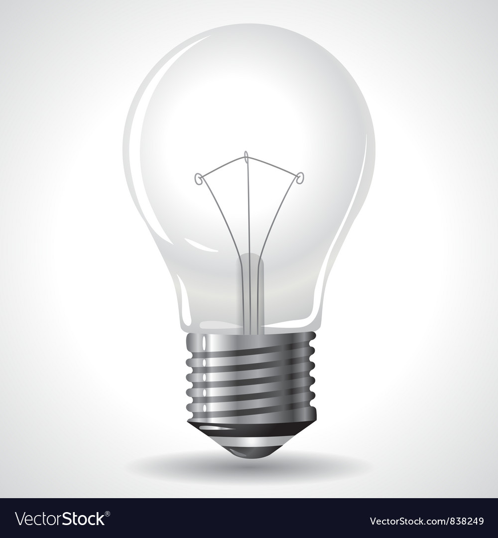 Bulb isolated on grey gradient background vector | Price: 1 Credit (USD $1)