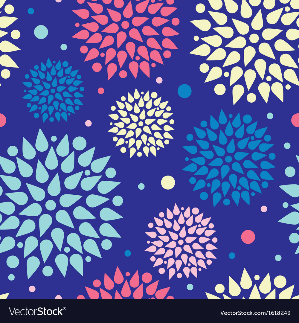Colorful bursts seamless pattern background vector | Price: 1 Credit (USD $1)