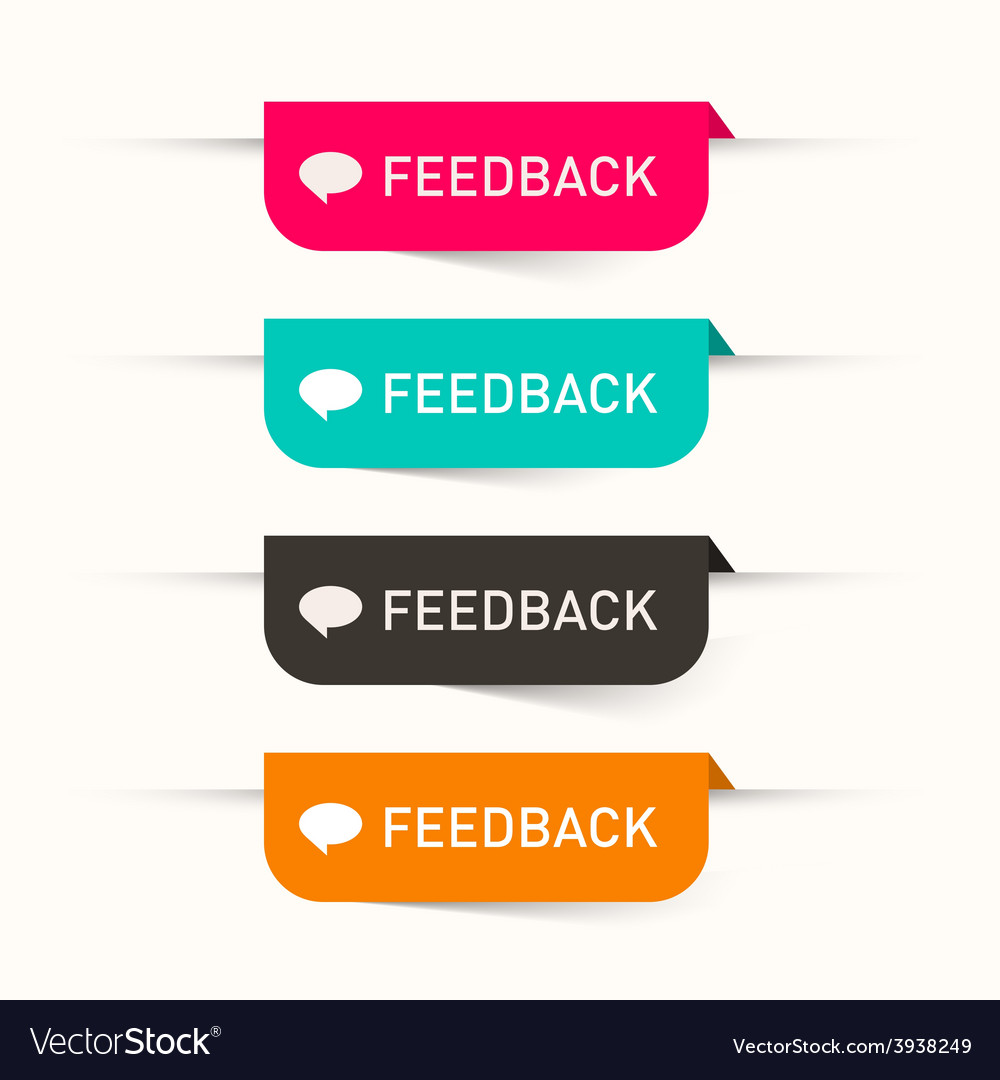 Feedback paper labels - stickers set - web icons vector | Price: 1 Credit (USD $1)