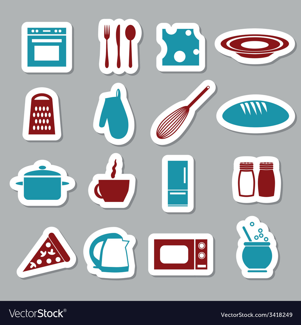Kitchen stickers vector | Price: 1 Credit (USD $1)