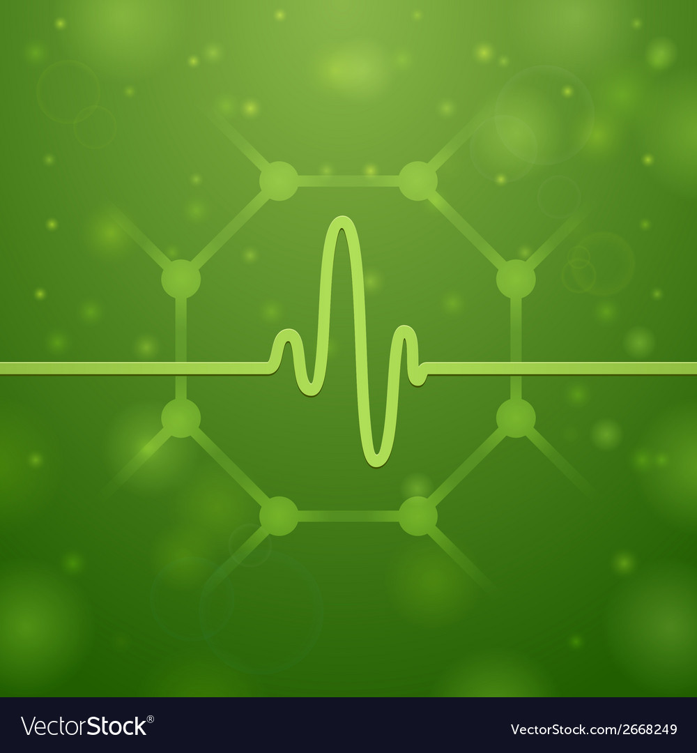 Molecule and cardiogram vector | Price: 1 Credit (USD $1)
