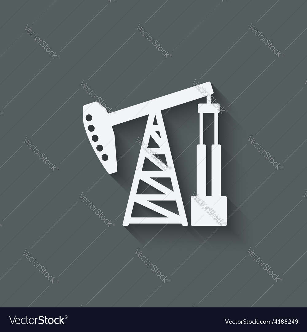 Oil pump symbol vector | Price: 1 Credit (USD $1)