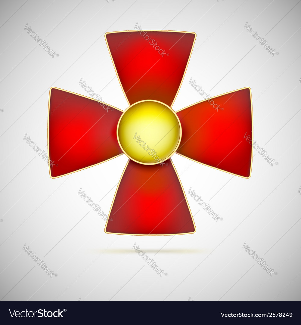 Red cross of a military medal vector | Price: 1 Credit (USD $1)
