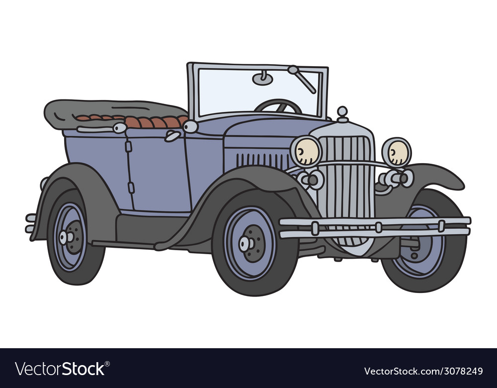 Vintage cabriolet vector | Price: 1 Credit (USD $1)