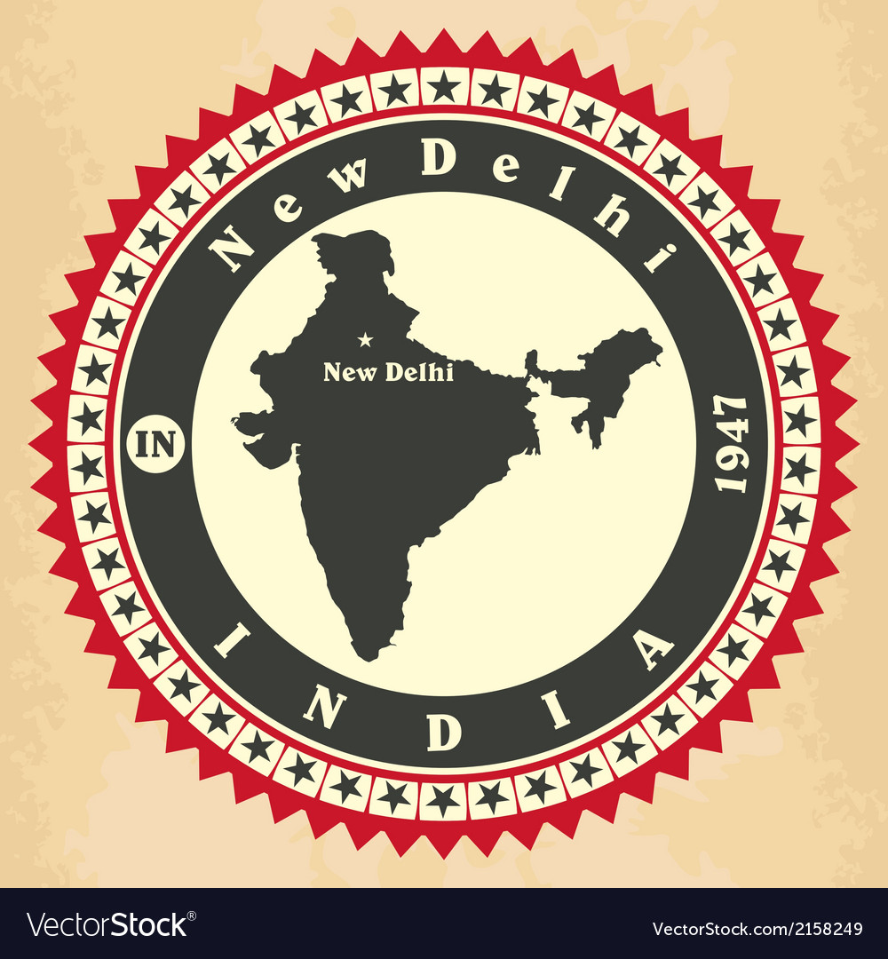 Vintage label-sticker cards of india vector | Price: 1 Credit (USD $1)