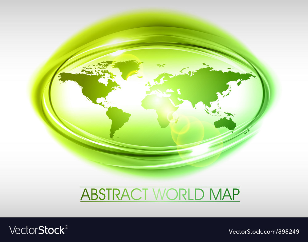 World abstract circle on white green vector | Price: 1 Credit (USD $1)